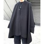 ポンチョ 【neos -addictive design-】ビッグシルエット ウールタッチ ドルマン ポンチョ コート