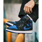 スニーカー NIKE ナイキ AIR JORDAN 1 MID エア ジョーダン 1 MID 554724-068 BLACK/HYPER ROYAL