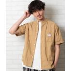 シャツ ブラウス SMITH'S別注バンドカラー半袖シャツ#