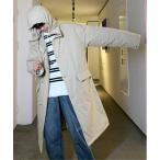 ダウン ダウンジャケット 【neos -addictive design-】オーバーシルエット ロング 中綿 フード コート