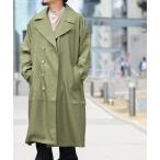 コート トレンチコート 【2】無地BIGトレンチコート オーバーサイズ スプリングコート
