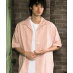 シャツ ブラウス 【NORMANBROS/ノーマンブロス】ビッグシルエット スウェードタッチ オープンカラーシャツ