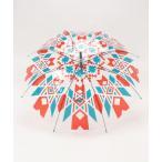 傘 【チャイハネ】エスニック透明ビニール傘 オルテガ柄