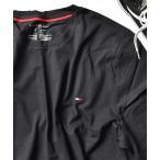 tシャツ Tシャツ 【TOMMY HILFIGER】ワンポイント刺繍TEEシャツ ベーシッククルーネック半袖Tシャツ ビッグシルエット