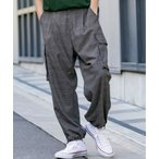 パンツ カーゴパンツ TRストレッチ / 3Way ワイドパンツ バギー カーゴパンツ (裾シャーリング)
