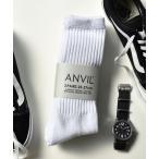 靴下 【ANVIL】3パック クルーソックス/3P Crew Socks/ANS050