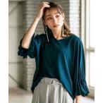 tシャツ Tシャツ 涼感素材袖タックデザインプルオーバー