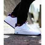 NIKE AIR FORCE 1 '07 2 (WHITE/WHITE-VOLTAGE PURPLE)【SP】