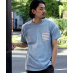 tシャツ Tシャツ BEAMS / 天竺 ボーダーポケット クルーネック Tシャツ