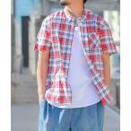 シャツ ブラウス 【a】国産/日本製 マドラスチェックシャツ半袖