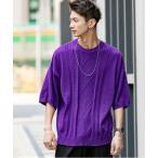 ニット TC ニット / ケーブル編み / ビッグシルエット / オーバーサイズ サマーニット Tシャツ