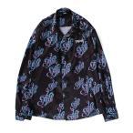 シャツ ブラウス 【MYne】モノグラムロングシャツ/Monogram long shirts