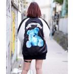 ジャケット ブルゾン 『TRAVAS TOKYO/トラバス トーキョー』Furry bear souvenir jacket/くまプリントスカジャン