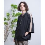 シャツ ブラウス Half-zip Ballon Raglan T-shirts/ハーフジップバルーンラグランT