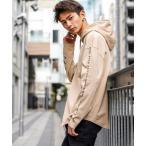 パーカー 【KANGOL×A.S.M コラボ】 USAコットン / KANGOL オーバーサイズ ロゴ刺繍 プリントパーカー Tシャツ(長袖)