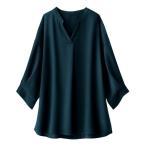 シャツ ブラウス 嬉しい機能付!袖タックデザインブラウス
