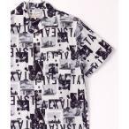 シャツ ブラウス 総柄 コットン アロハシャツ/ オープンカラーシャツ/ 開襟シャツ/アートプリントシャツ