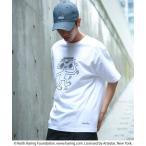 tシャツ Tシャツ Keith Haring/キースヘリング プリント半袖Tシャツ/ユニセックスでオススメ!!