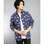 シャツ ブラウス GW/フラミンゴ七分袖シャツ