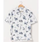 シャツ ブラウス 【BURNER SELECT】総柄プリント半袖シャツ