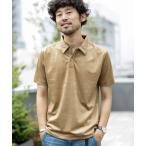 ポロシャツ 《WEB限定》フェイクスウェードポロシャツ