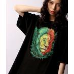 tシャツ Tシャツ 【LRG】フロントアニマル刺繍 半袖Tシャツ