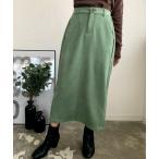 スカート エコスウェードセミタイトスカート