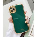 モバイルケース 【c.u.l】無地 シンプル フレームカラー ゴールド iPhoneカバー アイフォンケース ipc510