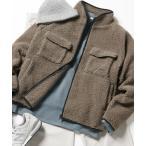 ジャケット ブルゾン Kappa/カッパ 別注 オーバーサイズ ロゴ刺繍 ボアフリースジャケット/CPOブルゾン/クレリックブルゾン