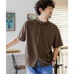 シャツ ブラウス 《WEB限定》エントリーワイドバンドカラーシャツ 半袖