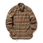 シャツ ブラウス BEAMS PLUS / シャギーオックスフォード ボタンダウン チェックシャツ