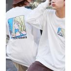 tシャツ Tシャツ Akane Malbeni/丸紅茜 コラボ TOKYO DAYSバックプリントL/S オーバーサイズカットソー