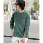 tシャツ Tシャツ ポケットデザイン8分袖Tシャツ