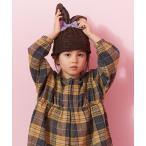 帽子 キャップ ベロアリボンつきウサ耳ニット帽