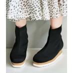ブーツ 【20冬新着】ニットウェッジブーツ