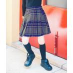 スカート 【ペア】チェック柄プリーツスカート