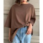 tシャツ Tシャツ 【2021S/S New Arrival】綿100%。ヘビーウエイトUSAコットンワイドシルエットバスクtee