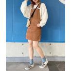 ワンピース ジャンパースカート WEGO/コーデュロイジャンパースカート