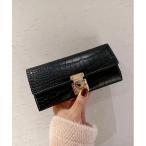 財布 【14 BURNER SELECT】クロコ型押し レザー調 ロングウォレット