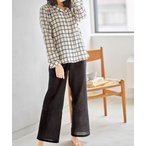 ルームウェア パジャマ 【ふんわり軽やか♪通気性・吸水性がよく快適♪】コットン100%ダブルガーゼシャツパジャマ【テーラーシャツ・ラウンドネックから選
