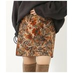 スカート 柄スウェードストレッチミニスカート