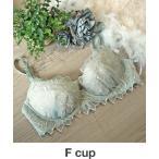 ブラ AMPHI「整える」大花柄×エンブロイダリーレース ブラジャー Fcup