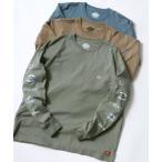 tシャツ Tシャツ 【Dickies】 ディッキーズ オーバーサイズ  袖プリント ロングスリーブTシャツ/ロンT/別注 コラボ【2021 SPRIN