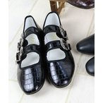 シューズ バレエシューズ AAA / メリージェーンカンフーシューズ/kung fu Shoes ダブルベルト(3544)