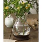 花瓶 BOLD ウッド×ガラス フラワーベース ナロー Sサイズ