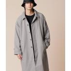 ステンカラーコート コットンツイル / オーバーサイズ ロング丈 ステンカラーコート スプリングコート