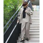 ジャケット ブルゾン WEB限定 ビッグシルエット ポリトロ セットアップ/CPOシャツ/シャツジャケット/ワイドアンクルパンツ