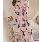ルームウェア パジャマ ルームウェア 3点セット レディース 花柄 パジャマ カーディガン ナイトウェア パンツ