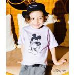 tシャツ Tシャツ 【Disney】モノトーンプリント半袖Tシャツ