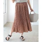 スカート B:MING by BEAMS / フラワープリント プリーツスカート 21SS